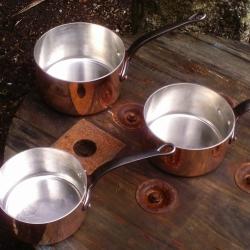 re-tinned pan set