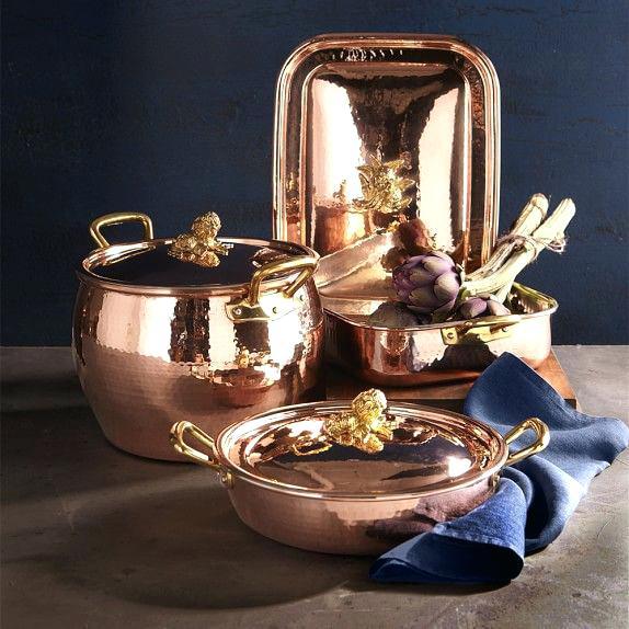 Ruffoni copper cookware.