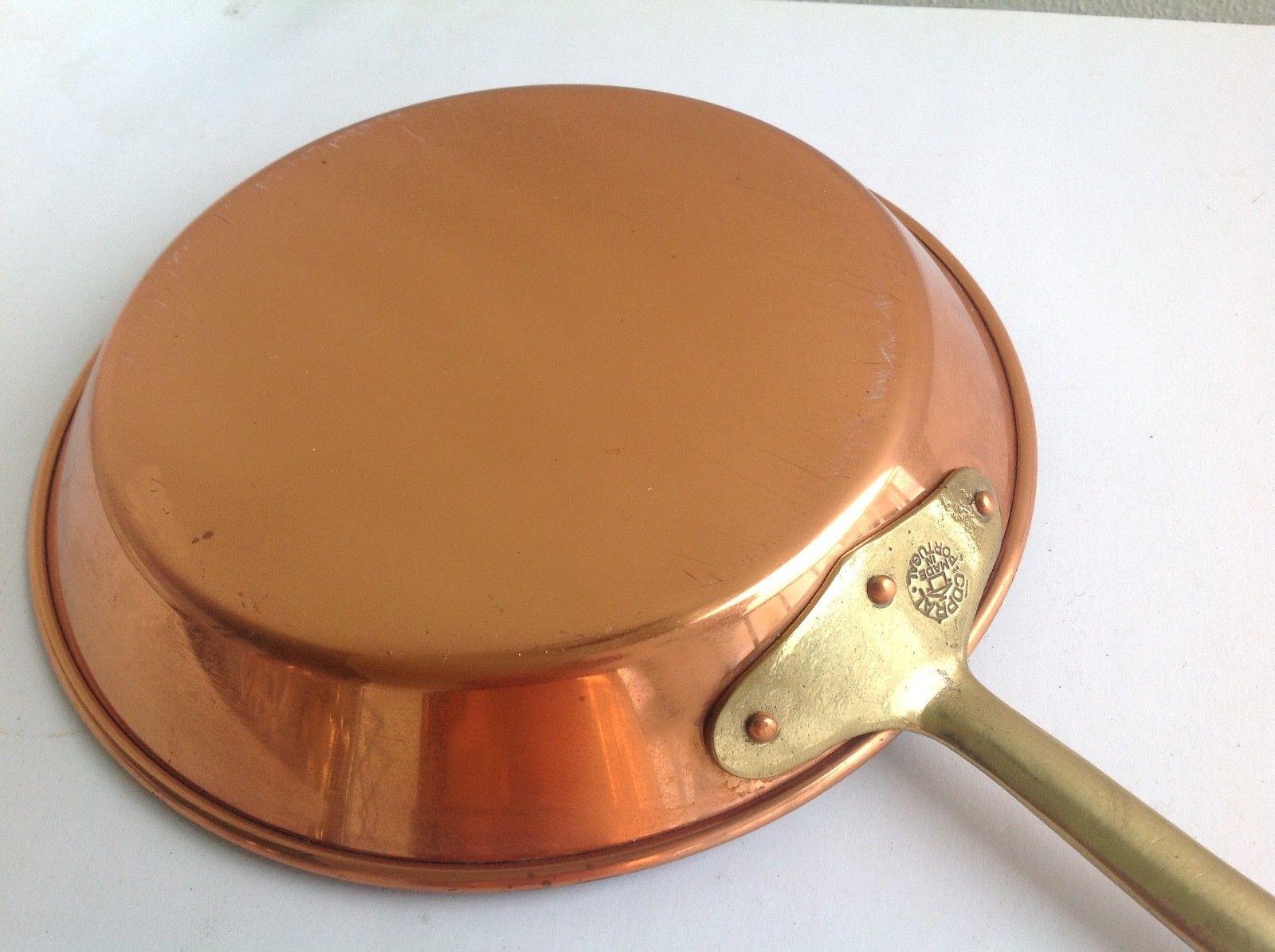 Copper skillet.