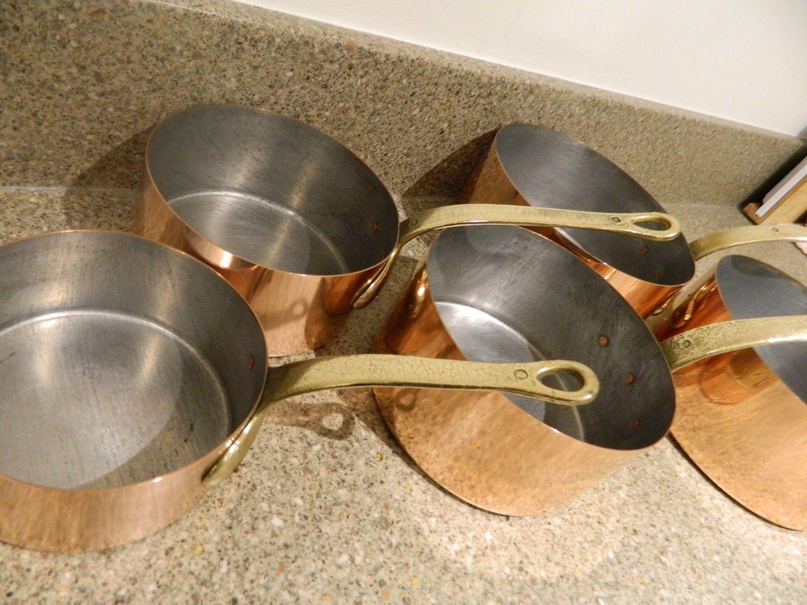 Copper pan tinning.