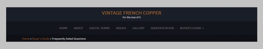 French copper cookware guide